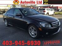 2008 MERCEDES C350 4MATIC AWD NAVI PANOROOF 90 DAYS NO PAYMENTS