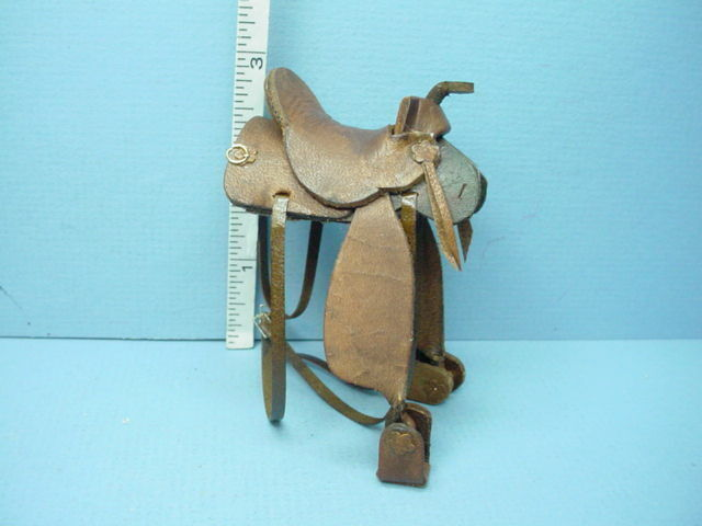 miniature brown leather western saddle handcrafted 1
