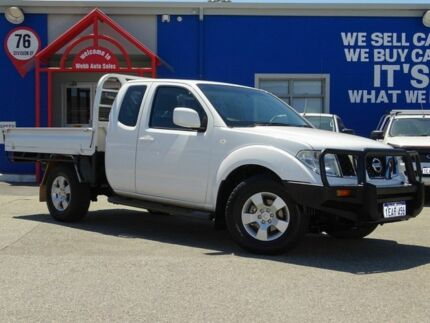 2012 Nissan Navara D40 S6 MY12 ST-X King Cab White 5 Speed Automatic Utility