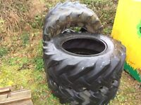 4 no. Tyres / Garden Planter / Used Agricultural Tractor tyres