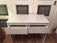White Gloss 2 drawer Dressing Table