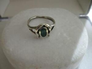 OUTSTANDING VINTAGE STERLING SILVER / TURQUOISE HORSESHOE RING