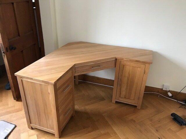 Home Office Desk Opus Oak Corner
