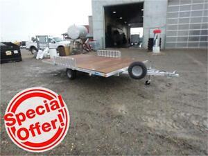 8 X 14 STOWABLE RAMP SERIES *ATV* TRAILER! *TAX IN* Spare Incl!