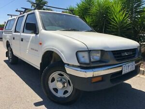 1998 Holden Rodeo TFR7 LX White 5 Speed Manual Crew Cab Pickup Hoppers Crossing Wyndham Area Preview