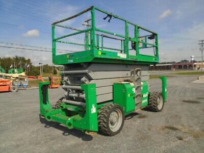 Genie Gs5390rt Rough Terrain Scissor Lift With Outriggers 53 Diesel
