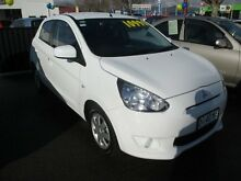 2013 Mitsubishi Mirage LA ES White 5 Speed Manual Hatchback Invermay Launceston Area Preview