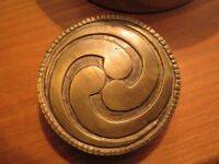 Vintage Brass Belt Buckle