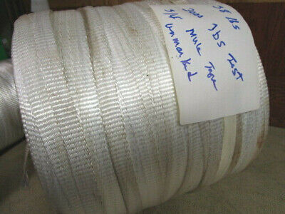 Usa Made 34 29 Lbs. 2500 Lb. Strength Polyester Mule Tape Pull Tape Unmkt.
