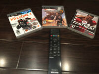 PS3 games Drake 3, fight night round 3 and Killzone 3