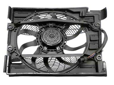 For BMW E39 528i Auxiliary Fan Assembly with Shroud for A/C Condenser Behr A/c Condenser Fan Shroud Assembly
