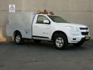 2012 Holden Colorado RG LX (4x4) White 5 Speed Manual Cab Chassis