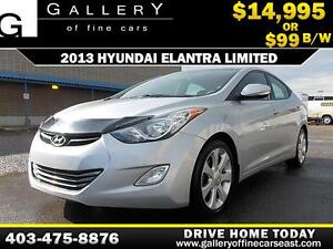 2013 Hyundai Elanta Limited $99 bi-weekly APPLY NOW DRIVE NOW