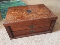 Vintage cutlery chest, perfect for restoration project