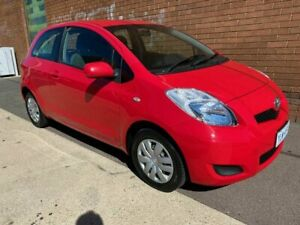 2011 Toyota Yaris NCP130R YR Red 5 Speed Manual Hatchback Phillip Woden Valley Preview