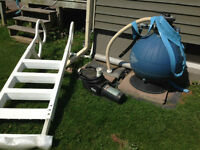 Hayward Pool Pump Sand Filter & Pool Ladder