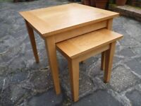 Solid Oak Nest of Tables As New