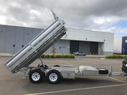 From $74 P/week on finance* 12x7 GALVANISED FLATBED TIPPER 3.5 T
