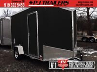 2019 RC 7'x12' SAE Flat Top Enclosed Wedge Trailer London Ontario Preview