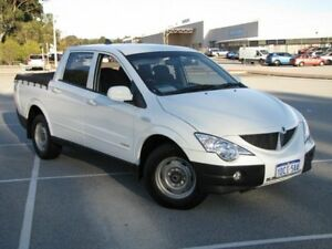 2009 Ssangyong Actyon Sports 100 Series MY08 Tradie 4x2 White 5 Speed Manual Utility Maddington Gosnells Area Preview