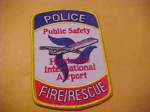 HUNTSVILLE ALABAMA AIRPORT PUBLIC SAFETY POLICE PATCH SHOULDER SIZE UNUSED