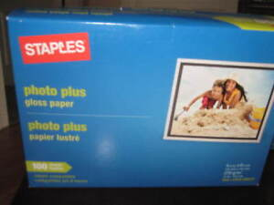 Staples Photo Plus gloss paper x 3 100 packs 4x6 in