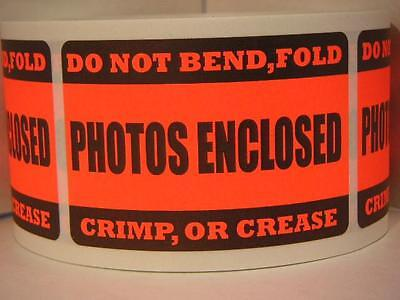 50 Photos Enclosed - Do Not Bend Fold Crimp Or Crease Label Sticker Red Fluor