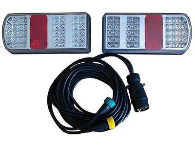 LED Rückleuchten-Set für Anhänger - Paar Heckleuchten inkl. 5m 7-poligen Kabel