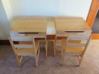 Child's Desk and Chair (2 Sets)