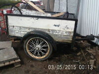 Car Trailer with Cast Iron Spoked Wheels