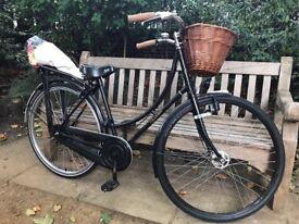 Vintage Ladies Black Step Through Dutchie Bike