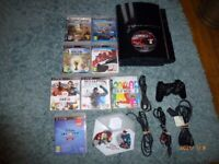 PLAYSTATION 3 MODEL CECHK03 CONSEAL 80GB HARD DRIVE &ONE WIRELESS CONTROLLER&NINE GAMES