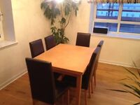 6 leather dinning chairs (Marks and Spencer) and extendable dinning table