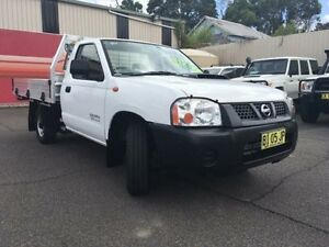 2010 Nissan Navara D22 MY2009 DX White 5 Speed Manual 2D Cab Chassis Gosford Gosford Area Preview