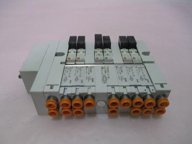 SMC VV5Q13-ULB000119 Pneumatic Manifold, 5 VQ1331-5-C0, 2 VVQ1000-P-3-N7, 415582