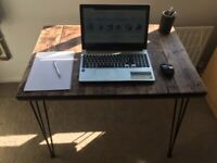 Hand-Made reclaimed wood desk with walnut beeswax finish £115 ono