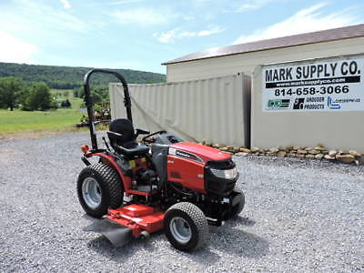 Nice 2015 Mahindra Max 22 Hst Sub Compact Tractor Belly Mower 60 22hp Diesel