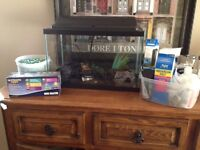 10 Gallon Fish tank and all accessories