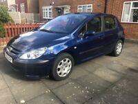 Peugeot 307, 1.6 Automatic, Petrol, 5 Doors, 45k Low Mileage, Blue
