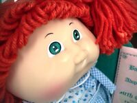 "16""ORIGINAL RED HEAD CABBAGE PATCH GIRL DOLL,BOX,FRIEDA CERT,TAG"