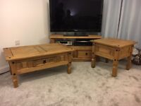Coffee table, TV Unit + 2 side tables (TV NOT INCLUDED)