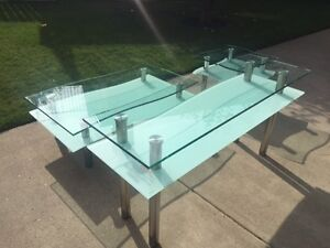 Tempered Glass (1/2 inch) Set of Three Tables