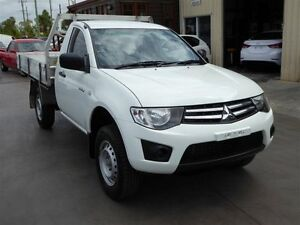 2012 Mitsubishi Triton MN MY12 GLX White 5 Speed Manual Cab Chassis Strathpine Pine Rivers Area Preview