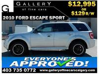 2010 Ford Escape SPORT 4WD $129 bi-weekly APPLY NOW DRIVE NOW