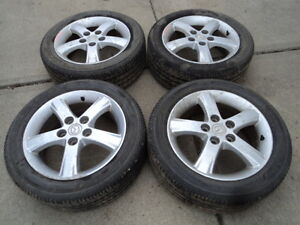 4 Firestone Tires with Rims for Mazda 3 & Protege