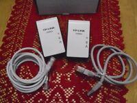 TP-LINK AV200 Mini Multi-Streaming Powerline Adapter Starter Kit Twin Pack 200mb
