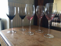 Assortment of wine glasses from South Africa