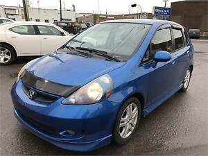2007 Honda Fit Sport 5 vit. GAR 1 AN FINANCEMENT DISPONIBLE