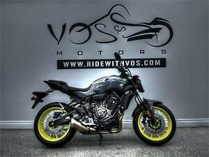 2017 Yamaha FZ-07 - Stock #V2466NP -No Payments for 1 Year**