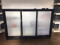 Triple Sliding Door Back Bar Cooler